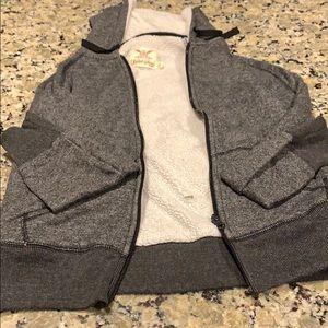 Fuzzy Long Sleeve Zip Up Jacket